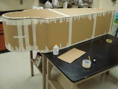 Paper Mache Sarcophagus, Step 1