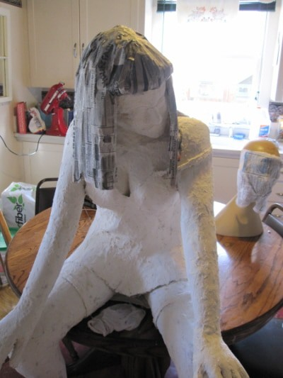 guest post making an armature for a paper mache figure