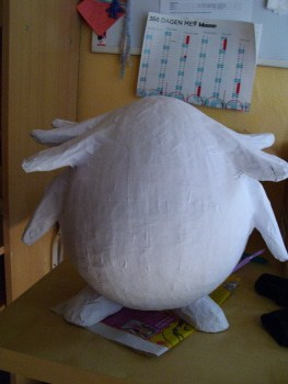 Chansey Covered with White Paper