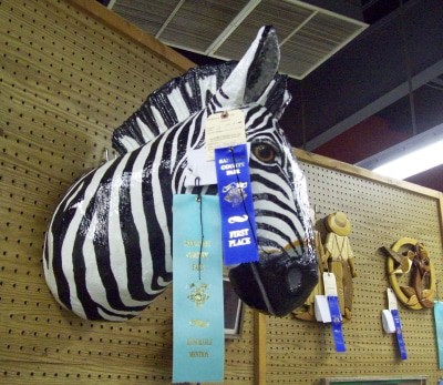 Lisa's Ribbons for Paper Mache Zebra