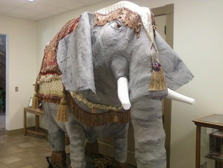 Paper Mache Elephant Front View