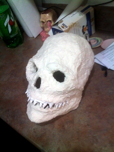 Scull Mask, Before Painting