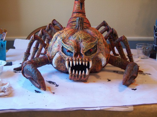 Scorpiumpkin - Paper Mache Halloween Monster