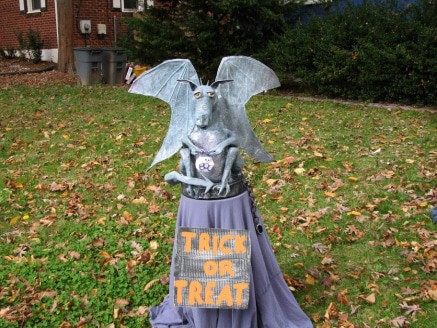Paper Mache Gargoyle Halloween Display