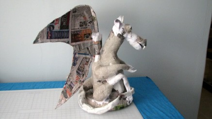 Paper Mache Gargoyle in Progress