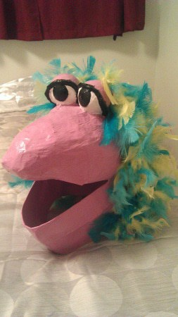 Feather Boa with Fraggle Rock Character