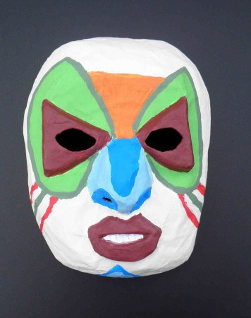 Finished Paper Mache Mask