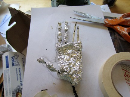 Chimpanzee Sculpture - Hand Armature Step 4