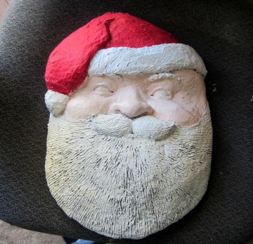 Second Layer of Acrylic Added to Santa
