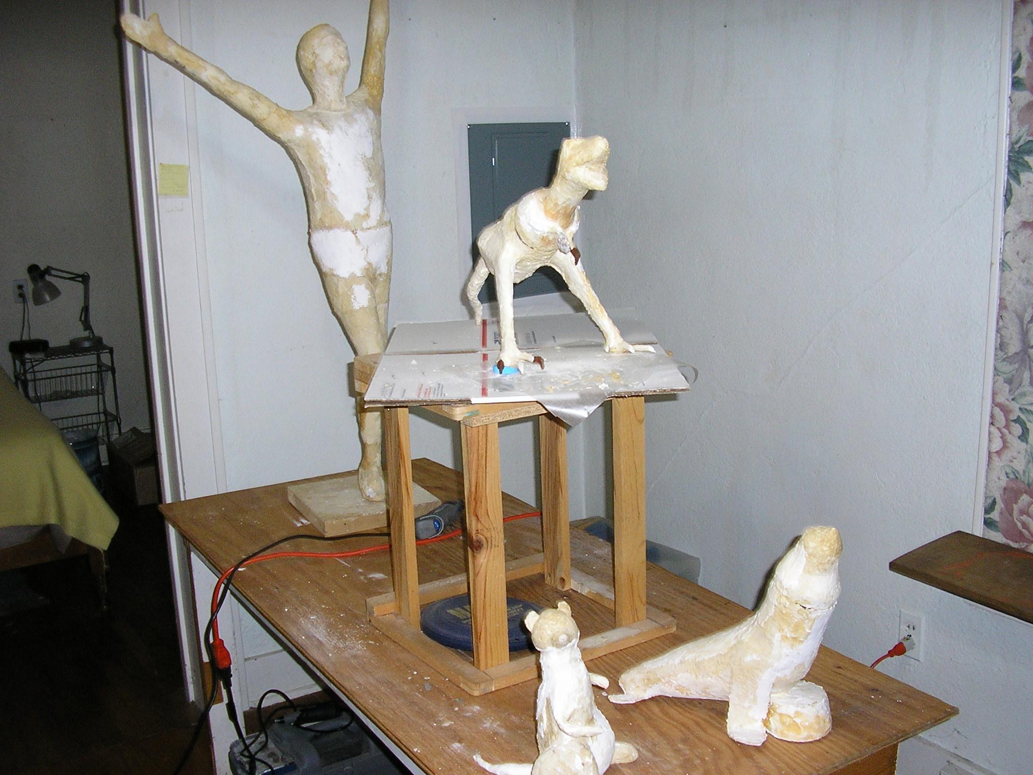 how to make paper mache human figures