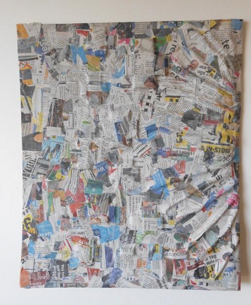 Adding Paper Strips and Paste & Paper Mache Wall Art u2013 a Guest Tutorial | Ultimate Paper Mache