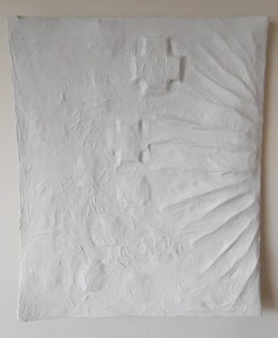 Paper towels and cold flour paste