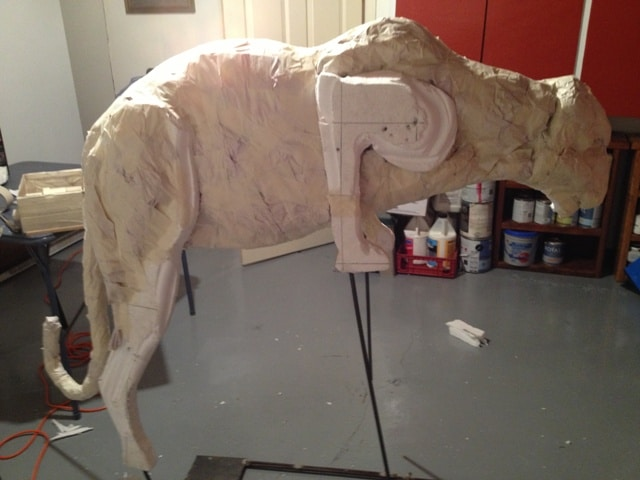 julie s mountain lion sculpture ultimate paper mache